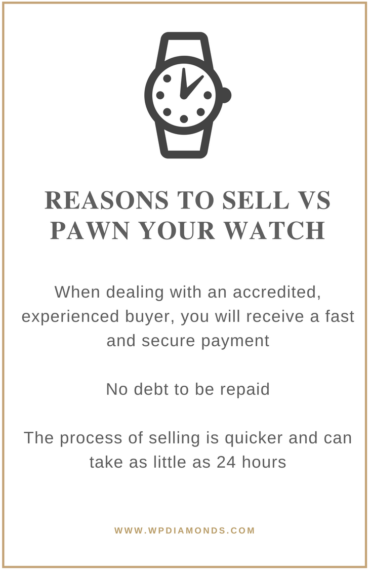 Reasons to sell VS pawning your watch