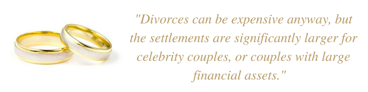 Celebrity divorce settlements