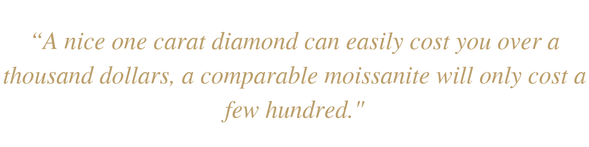 moissanite vs diamonds