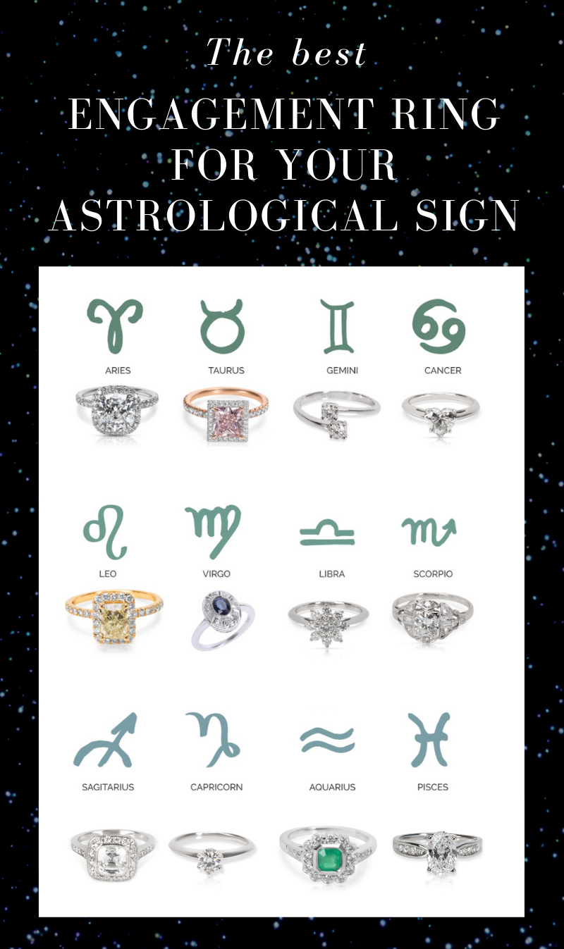 the best engagement ring for your astrological sign