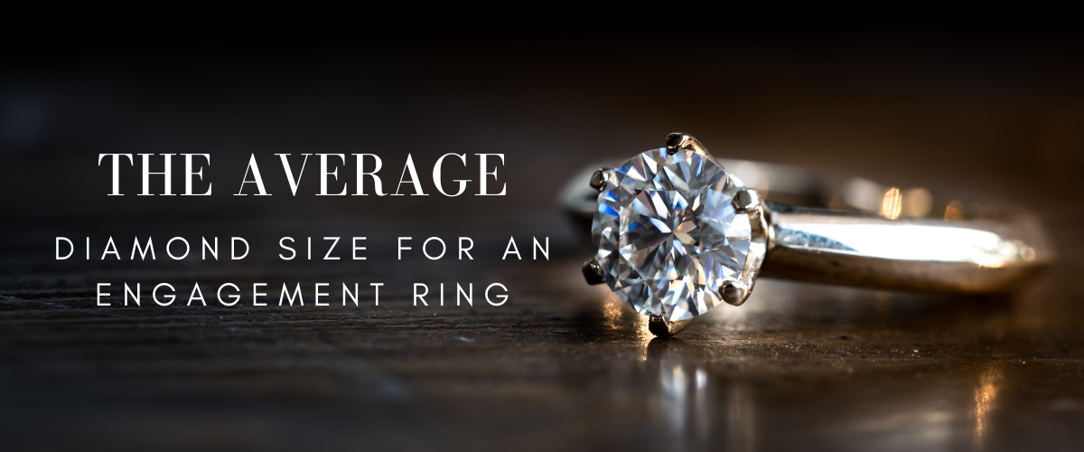The average diamond size for an engagement ring