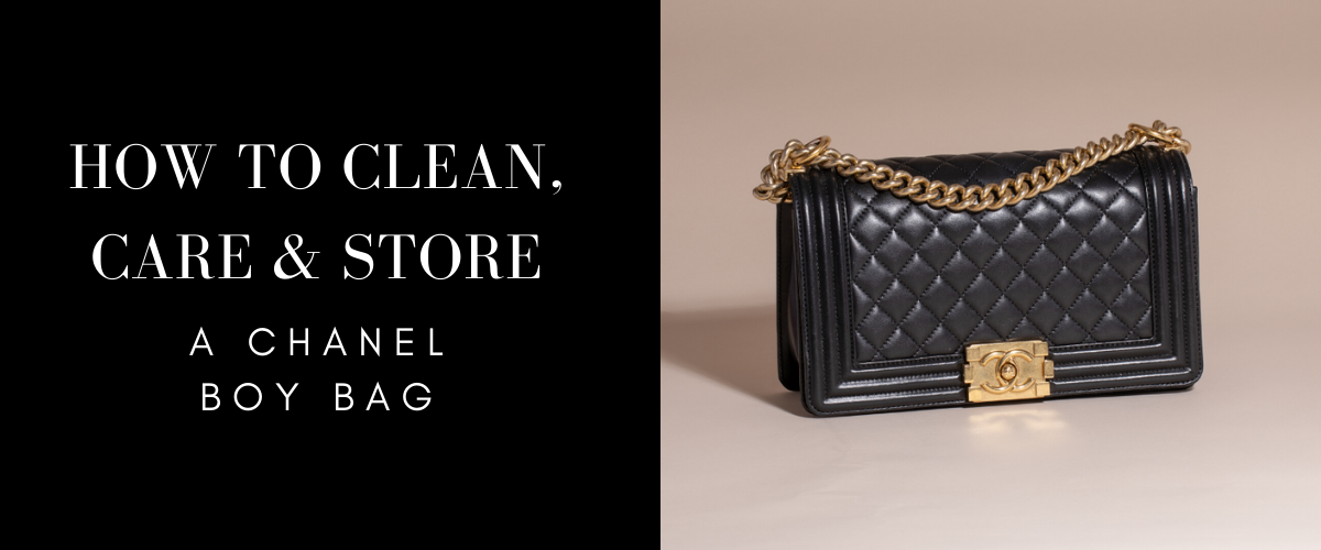 how to store a chanel boy bag